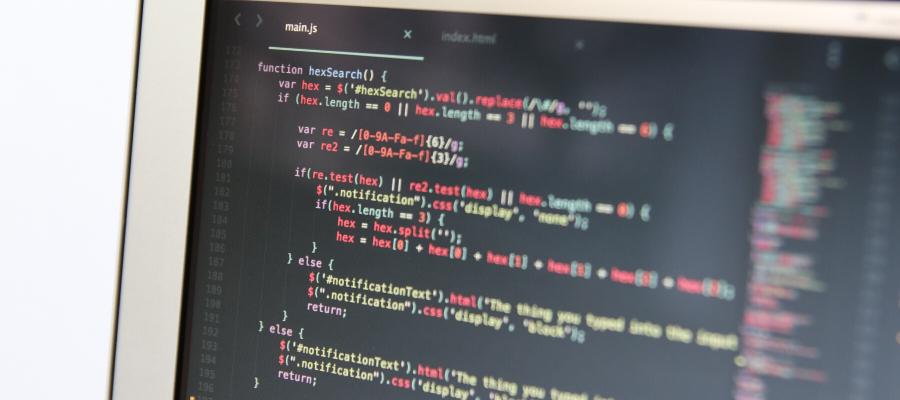 Uno schermo contente un codice scritto in JavaScript